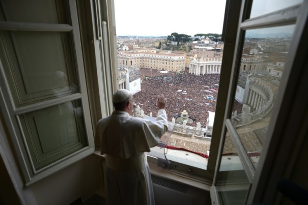Italy - Religion - Pope Francis first Angelus Prayer