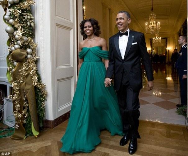 mobama Michelle Obama impresionó con este vestido anoche