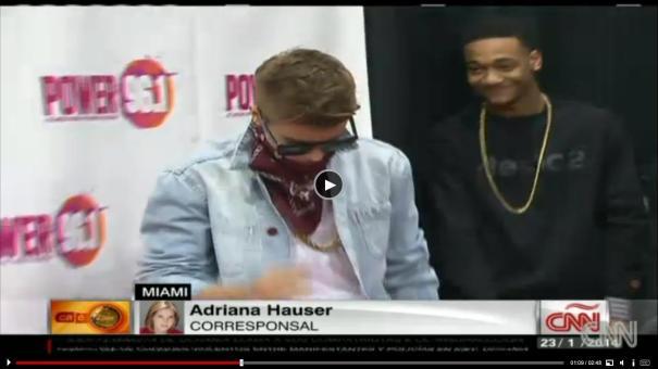 "34 Video  Otra vez ""trancan"" a Justin Viveres [Miami]"