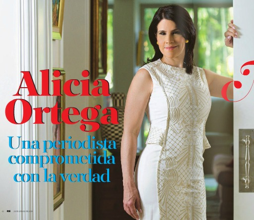 dentro del hogar de Alicia Ortega