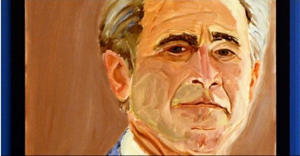 21 George W. Bush pintó a líderes mundiales [Exhibición]