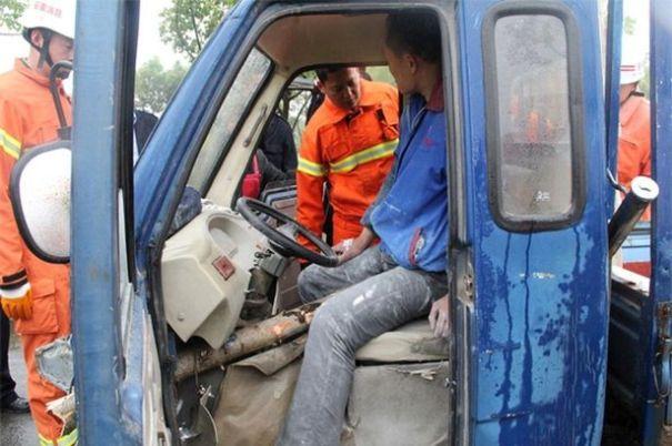Driver-impaled-through-crotch
