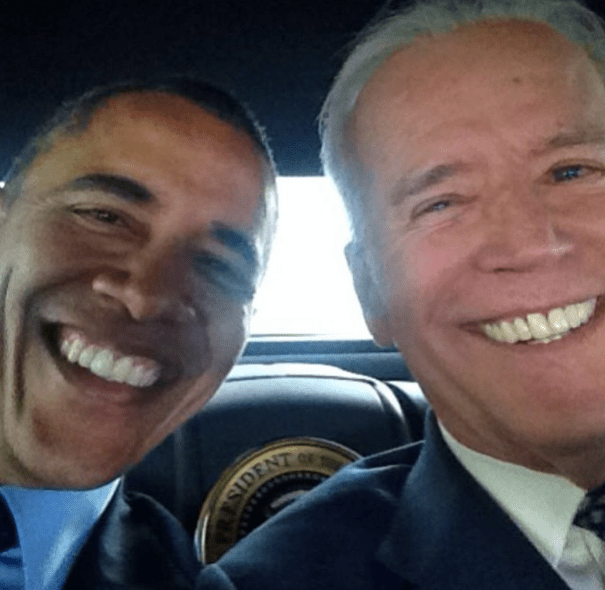 vp Obama y el vice toman una selfie