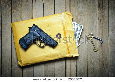 stock-photo-gun-envelope-with-money-and-keys-70533871