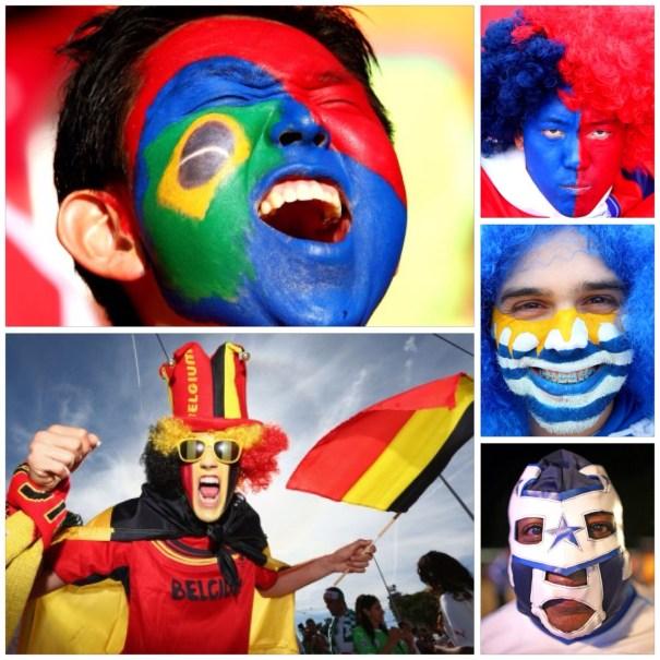 image84 Los peinados y caras pintadas de Brasil 2014 [fotos]