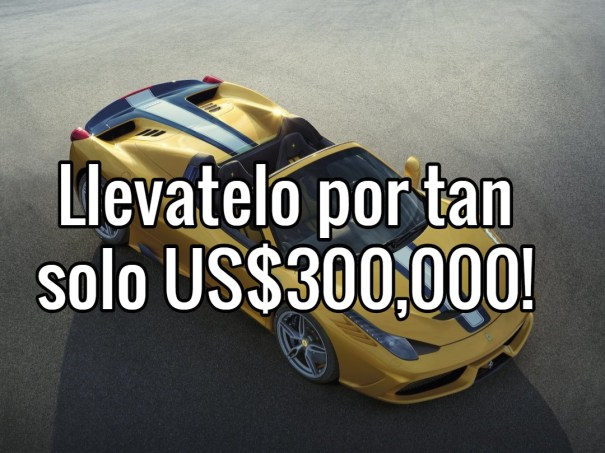 ferrari Ferrari 458 Speciale A, super raro y mas caro que el diantre