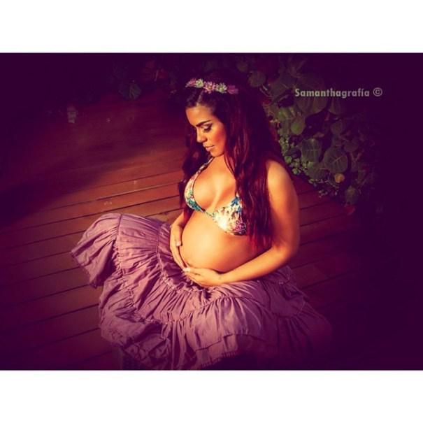 Ibelka Ulerio muestra su linda panza de embarazada