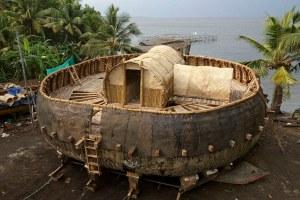 la verdadera arca de noe Tipo crea réplica de la arca de Noé