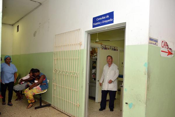 En condiciones infrahumanas, depto. de fisiatria Hospital Robert