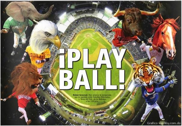 playball ¡Play Ball! Hoy arranca la temporada de Béisbol Invernal de la República Dominicana