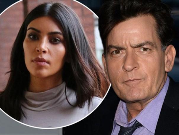 1123778 Charlie Sheen insultó a Kim Kardashian