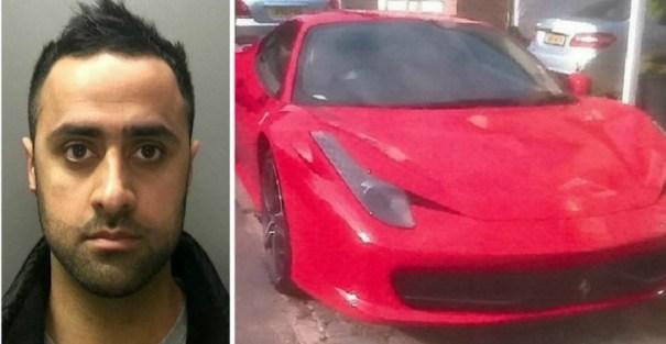image42 Foto   El policía que llegó al trabajo en un Ferrari de US$256 mil