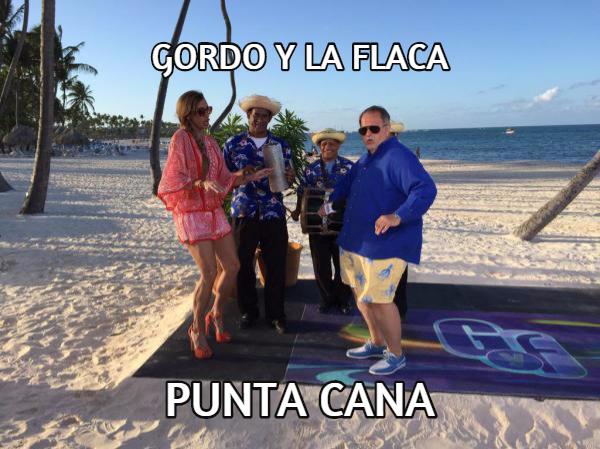 gfpc Mas fotos de El Gordo y la Flaca chillin en Punta Cana