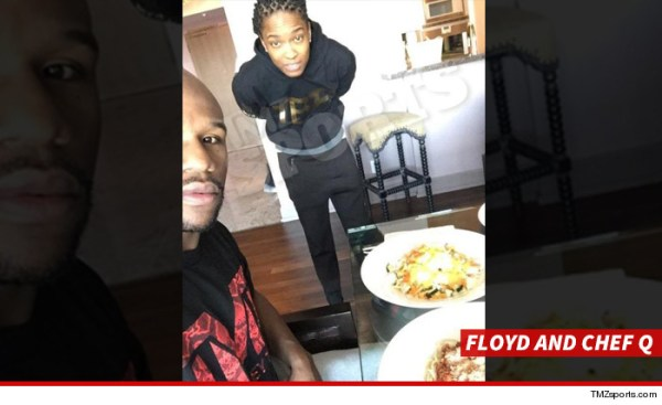 0316 floyd and chef q tmz sports 4 La dieta de Mayweather: gasta US$1,000 por comida