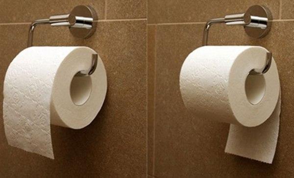 2089446 ¿Hacia dónde debe colgar el papel de baño?