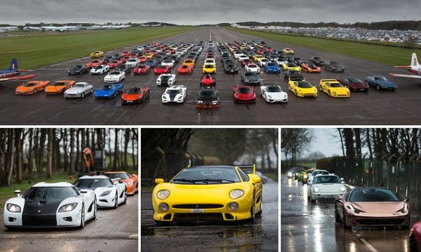 More Than £20 Million Of Supercars Descend On Leicestershire For Secret Supercar Meet
