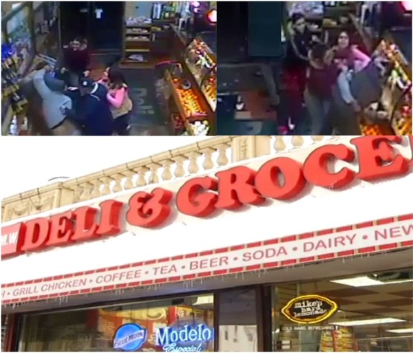 image28 Video   Varios apuñalados en deli del Bronx