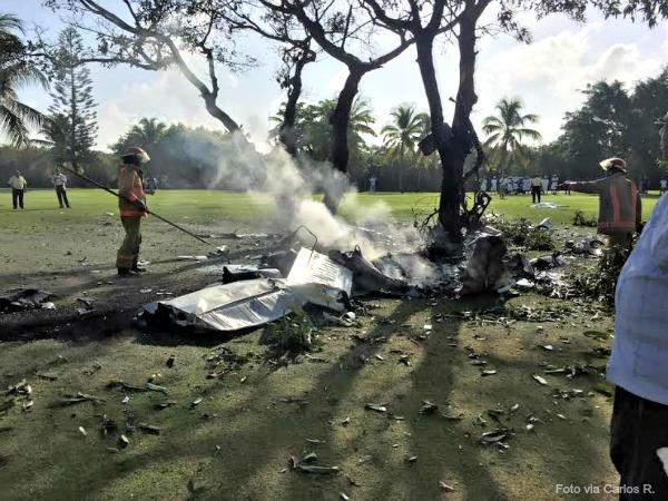 avioneta Cuatro españoles, dos británicos y un dominicano perecieron en el accidente aéreo