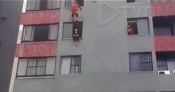image541 Video   Bombero salva la vida de mujer intentó suicidarse en Brasil