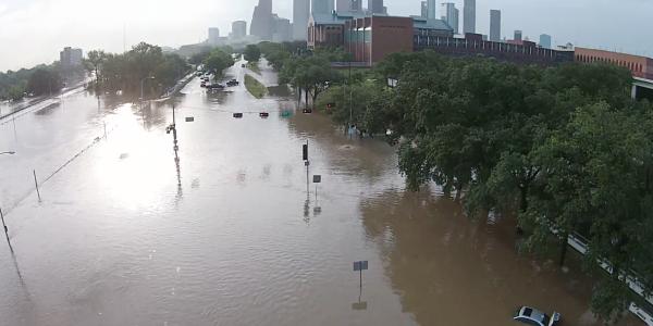 houston Imágenes de las inundaciones de Houston vistas desde un Drone