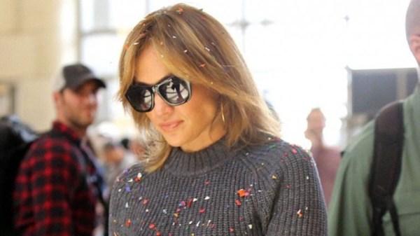 image684 Video   Doña JLo atacada con confeti en aeropuerto Los Angeles