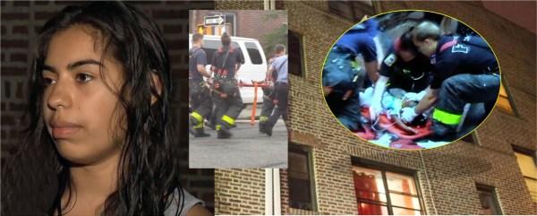 image721 Dominicana ayuda a salvar niña cayó desde ventana en Brooklyn