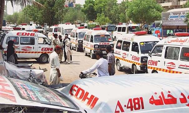 ambulancias Calor asesino en Pakistán. Deja 140 muertos