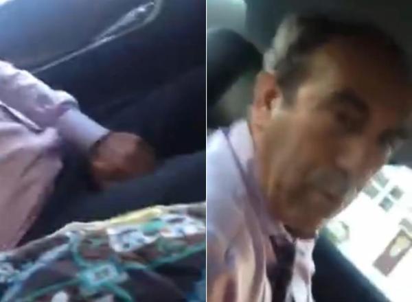 uber Foto   Conductor de Uber se manosea delante de cliente