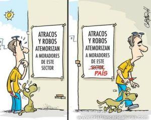 Atracos y robos (caricatura)