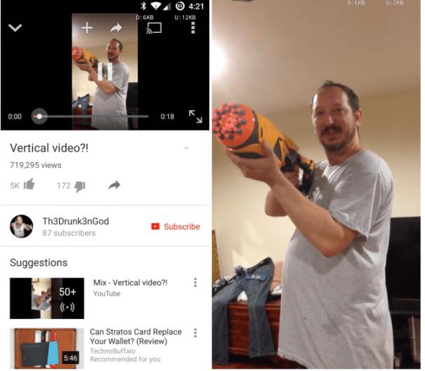 vv YouTube arregla los vídeos verticales en Android