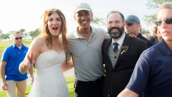 President Obama crashes California wedding