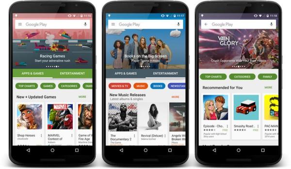 el rediseno de google play store El rediseño de Google Play Store