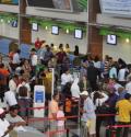 aeropuerto Venezolanos llegando de forma masiva a RD