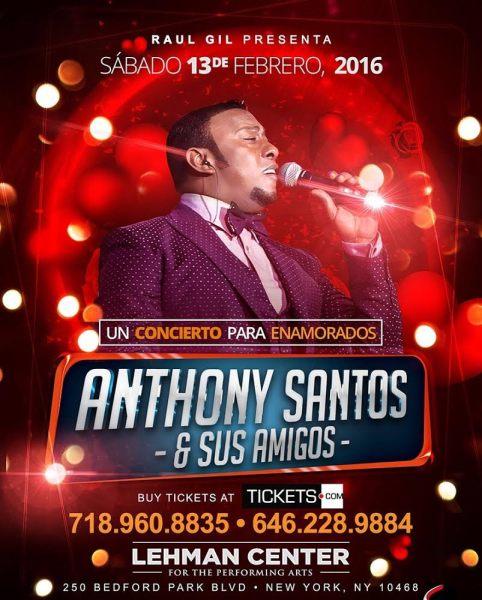 """Anthony Santos  """"Un concierto para enamorados""""."""