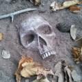 buried-skull-garden-stones
