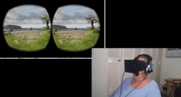 madre Madre dominicana prueba la realidad virtual por primera vez