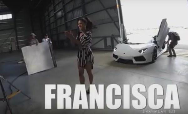 fl4 Francisca Lachapel en Lamborghini