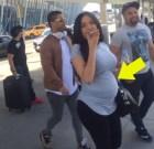 barriga Nabila Tapia y su barriguita buscando a Don Miguelo al aeropuerto