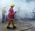 fuego incendio Explota área de máquina envasadora en La Vega