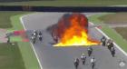 Explosión en carrera de motos