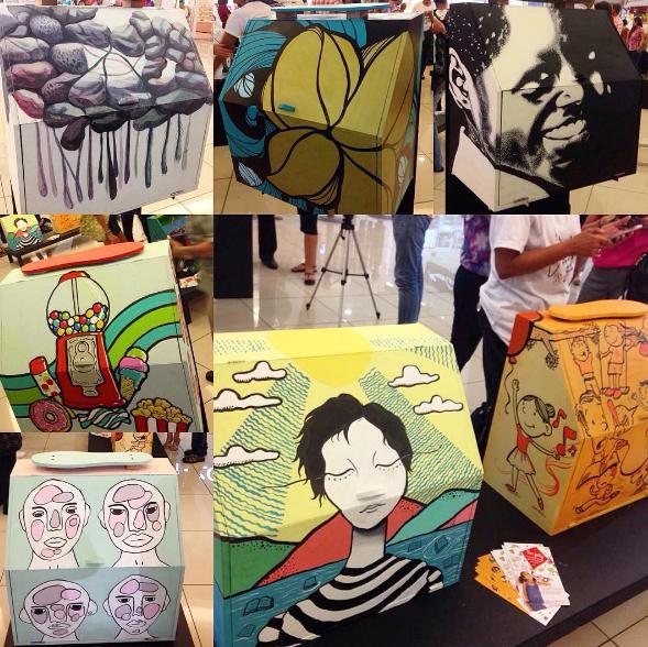 cool Cajas limpiabotas como arte