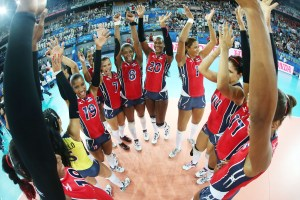 Dominican Republic team celebrates
