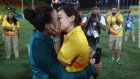Beso en Río