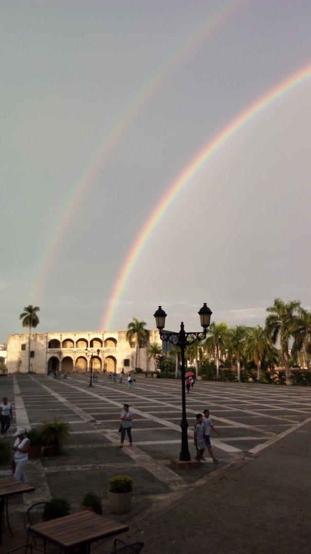 arcoiris 6 El doble arcoíris en Santo Domingo y en Nueva York