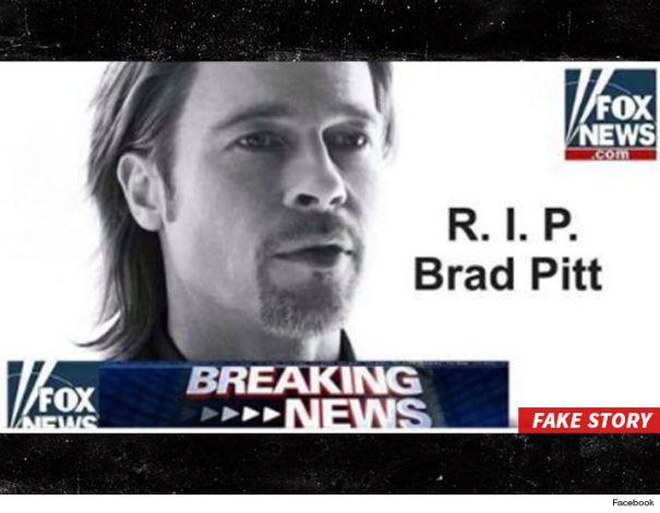 brad pitt1 Ojo con la noticia de la supuesta muerte de Brad Pitt