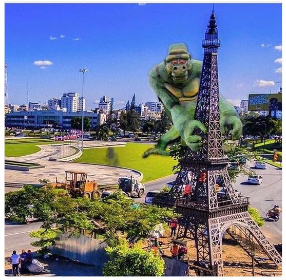 a torre Memes: La Torre Eiffel Dominicana