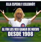 fefita Foto   Así celebra Fefita el campeonato de los Cubs