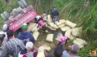 mao Video   Hombre muere al volcarse un camión cargado de arroz en Mao
