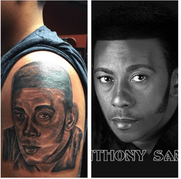 bacahtu Fanático se tatúa la cara de Anthony Santos