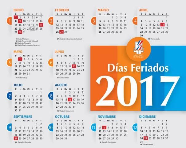 Los días feriados del 2017 en República Dominicana